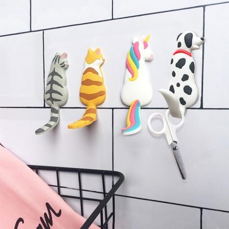 【療癒系辨公小物】 動物磁鐵掛勾 造型磁鐵 磁鐵文具 冰箱貼 磁吸 貓咪 冰箱 磁鐵 掛鉤 獨角獸 【B0230】