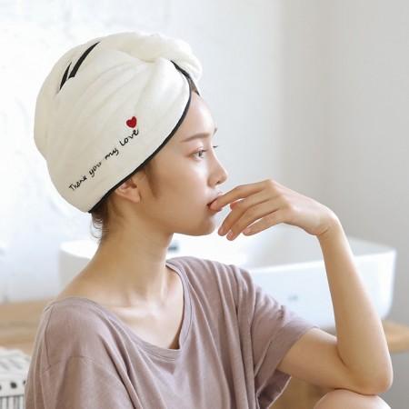 【四件免運費】快速吸水乾髮帽  ♡ 四款可選 珊瑚絨吸水浴帽  四款可選  乾髮帽 浴帽 包頭巾 珊瑚絨 【G2302】