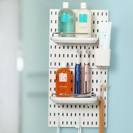 【美安獨家組合】 北歐風洞洞板♡浴室收納系列 免釘免打孔 洞洞板 收納架 收納壁板壁板 臥室收納 IKEA【G5207】