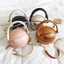 (交換禮物)【陽光女孩看這邊!個性小包】籃球造型手提包 ♡ 四色可選 個性手提包 單肩包 斜挎包 鏈條包 手提包 小圓包 【k0002】