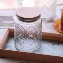 【質感生活好物 文青風格】 復古窗花玻璃罐  密封玻璃罐  收納罐  【E0188】