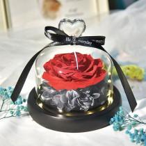 (交換禮物)【表達愛意!浪漫好氛圍】永生花夜燈禮盒  乾燥花玻璃罩 乾燥玫瑰花 乾燥花 玫瑰花 永生花 玫瑰 禮物【G4014】