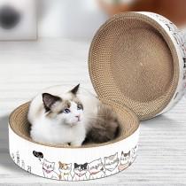 【一窩二用 貓咪最愛】B0009 圓餅貓抓窩 ♡二個尺寸 貓抓板  貓抓床 貓抓窩 貓抓盆 貓薄荷 圓餅貓抓板 碗型貓抓板 木天寥 寵物窩