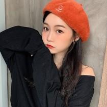 【韓國秋冬新款】毛呢笑臉貝雷帽 ❤️六色可選 畫家帽