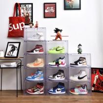 【硬殼高透明,質感極佳】 磁吸式鞋盒(二入組)♡四色可選  硬殼鞋盒 籃球鞋盒 置物盒 收納盒 展示盒 整理盒 鞋架 鞋盒 鞋櫃【G5610】