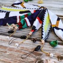 【隨機出貨】絲巾掛繩  ♡ 16款可選  寬版不勒脖 柔軟親膚 手機吊繩 掛繩 証件帶
