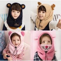 【交換禮物】韓國熱銷-兒童保暖護耳護頸套頭帽 ♡ 四款可選  兒童動物帽