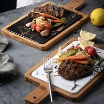 北歐大理石紋陶瓷托盤—披薩板  麵包盤  砧板 餐盤  陶瓷