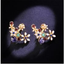 華麗珠寶花朵耳環  珠寶 耳針FA120