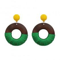 歐美超流行各色大圓形耳環 ♡ 四色可選 歐美款耳環 耳針 【FA111】