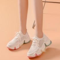 【晴天獨家上市】彩虹編織老爹鞋 ♡ 二色可選 彩虹老爹鞋 小白鞋 厚底鞋 增高鞋 彩虹底 【E0185】