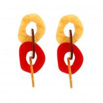 歐美飽和色壓克力耳環 壓克力 耳針 FA131