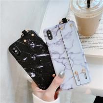 腕帶支架 大理石手機殼 ♡  二色可選  iphone xs max xr OPPO R9 R11 R15 三星 華為