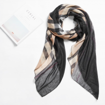 英倫風菱格絲巾長形圍巾可做披肩-四色