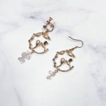 簡約造型耳環♡耳夾可選 【FA52】