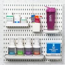 【美安獨家組合】北歐風洞洞板♡Isotonix收納系列 免釘免打孔 洞洞板 收納架 收納壁板壁板 廚房收納 IKEA【G5207】