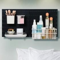 【美安獨家組合】 北歐風洞洞板♡保養品收納系列 免釘免打孔 洞洞板 收納架 收納壁板壁板 臥室收納 IKEA【G5207】