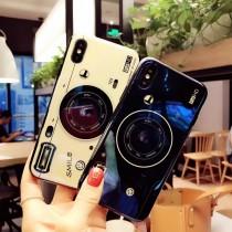 炫光相機支架手機殼  ♡ 二色可選  氣囊支架 復古相機 手機殼  泡泡騷  iphone xr xs  oppo r9 r11 r15 三星 華為