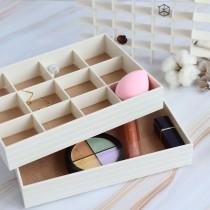 雙層飾品分隔整理收納盒 ♡ 三色可選  飾品收納 整理盒 雙層盒