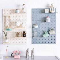 北歐風洞洞板創意置物架/置物收納架/牆面收納架/展示架 ♡ 三色可選