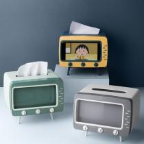 【復古風正流行!兩用紙巾盒】 復古電視面紙盒 紙巾盒 面紙收納盒 紙巾架 面紙盒 紙巾盒  【G5611】