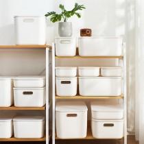 【帶蓋設計!多色可選】無印風帶蓋收納箱 收納盒 ♡五色可選 雜物收納盒 附蓋收納盒 置物箱 衣服收納箱 儲物箱 【I0147】