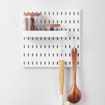 【百變收納 28種配件自由組合】 北歐風洞洞板♡A02組合  免釘 免打孔 收納架 收納壁板 洞洞板 壁板 IKEA【G5207】