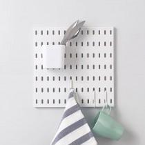 【百變收納 28種配件自由組合】 北歐風洞洞板♡A03組合  免釘 免打孔 收納架 收納壁板 洞洞板 壁板 IKEA【G5207】
