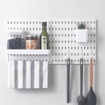 【百變收納 28種配件自由組合】 北歐風洞洞板♡A06組合  免釘 免打孔 收納架 收納壁板 洞洞板 壁板 IKEA【G5207】