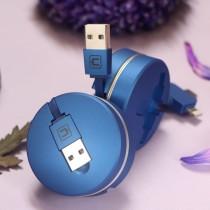 蘋果/安卓/TYPE-C三合一伸縮 快充線 傳輸線  充電線  數據線 ♡ 六色可選 【A0921】