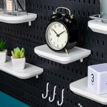 【百變收納 28種配件自由組合】 洞洞板專用置物架♡八種置物架可選 免釘 免打孔 掛勾 工具架 收納架 IKEA【G5207】