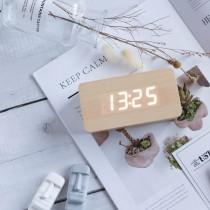 (交換禮物)時尚木質鐘 木質 時鐘 鬧鐘 鐘【G1109】