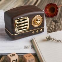 (交換禮物)復古收音機造型 藍芽喇叭 ♡ 六色可選  藍芽音響 懷舊收音機 美式收音機【E0124】