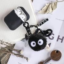 【最新流行】黑炭球款 Airpods保護套   ♡ 二款可選  宮崎駿  吉卜力  掛飾  airpods 耳機收納包  鑰匙圈