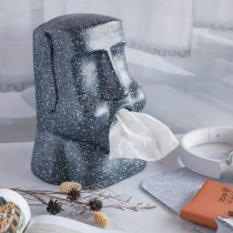 創意復活島立體面紙盒 摩艾 moai 復活島石像 面紙盒 嘟嘴款